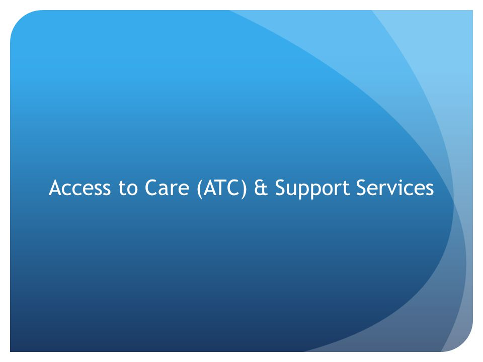 ATC Program Development National HIV/AIDS Strategy Reduce New HIV Infections Increase Access to Care and Improve Health Outcomes for People Living with HIV Reduce HIV-Related Health Disparities Achieve a More Coordinated National Response to the HIV Epidemic in the U.S.