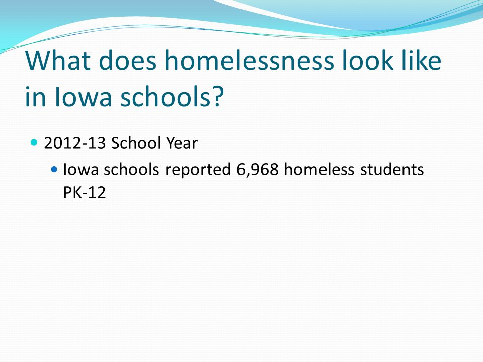 What does homelessness look like in Iowa schools.