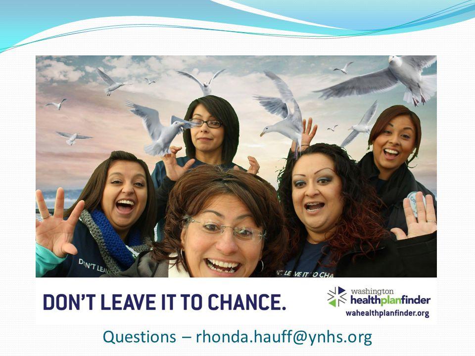 Questions – rhonda.hauff@ynhs.org