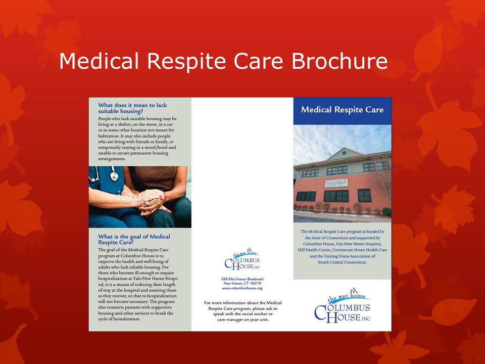 Medical Respite Care Brochure.