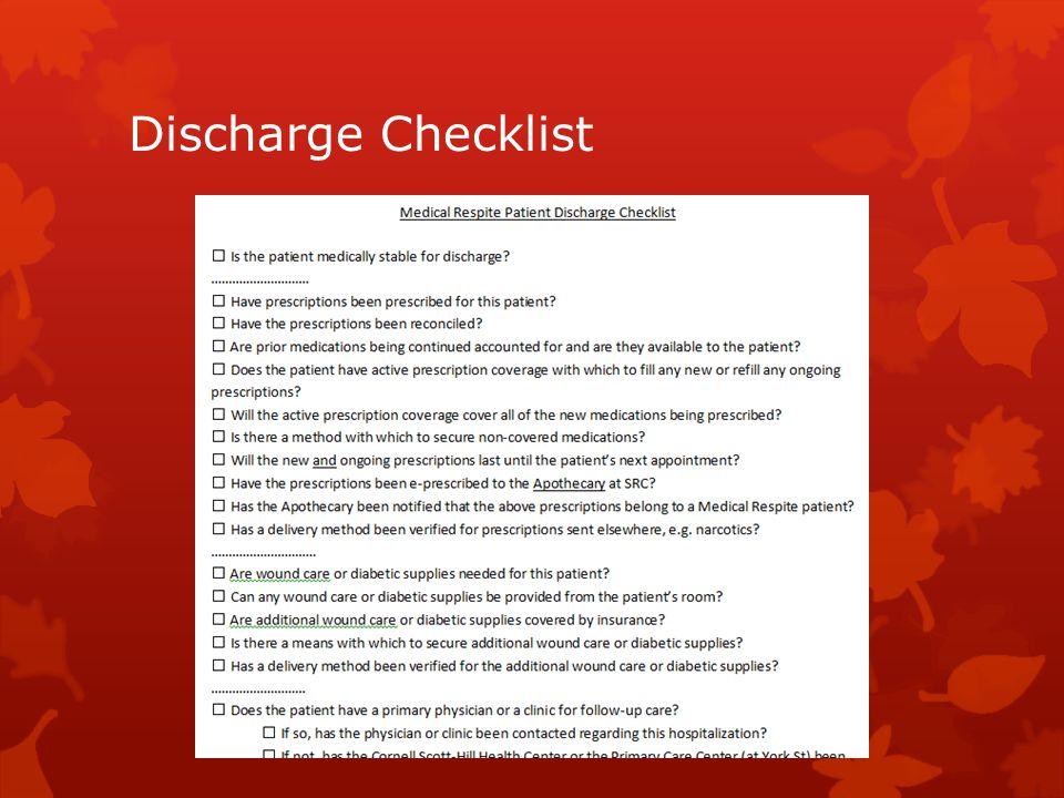 Discharge Checklist