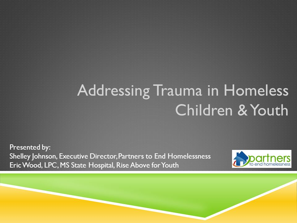 Homelessness is severe trauma.It stays with you the rest of your life.