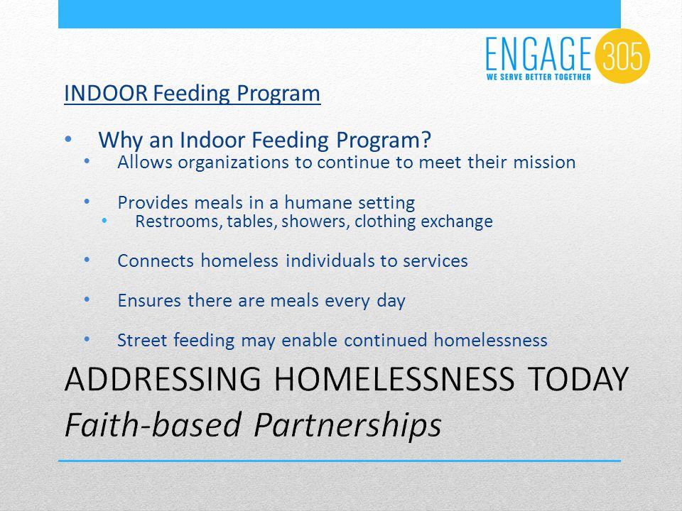INDOOR Feeding Program Why an Indoor Feeding Program.