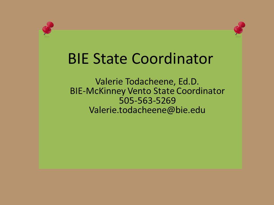 BIE State Coordinator Valerie Todacheene, Ed.D.