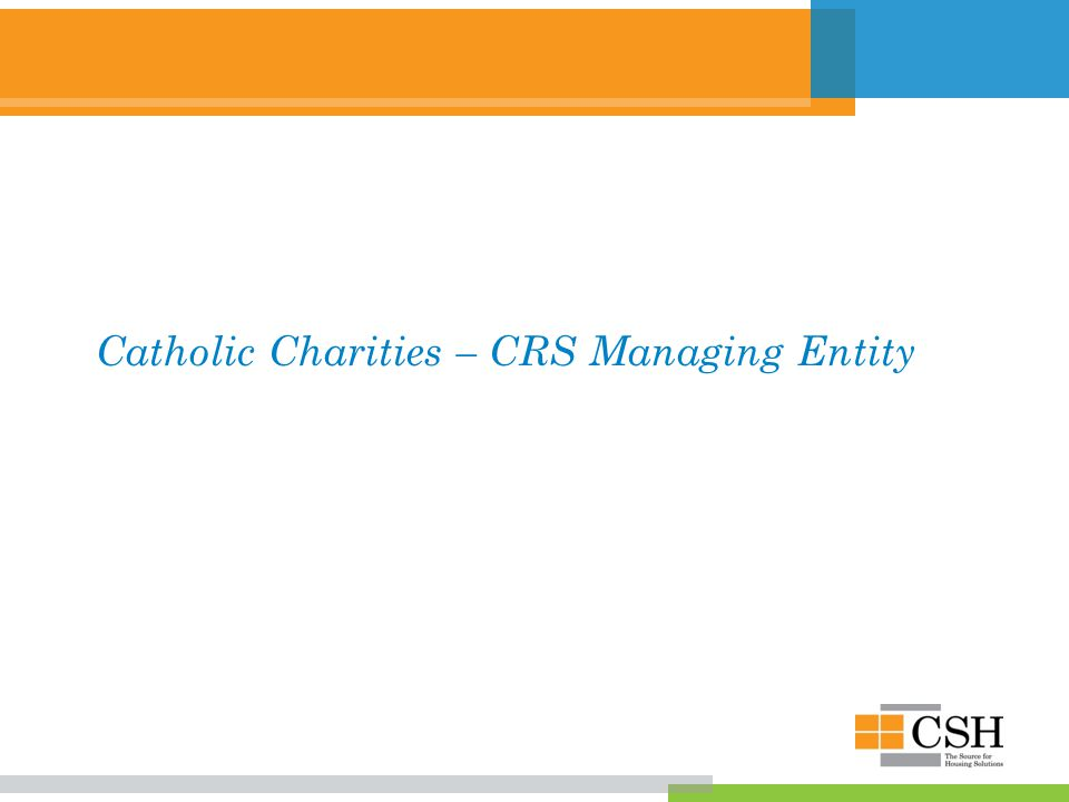 Catholic Charities – CRS Managing Entity