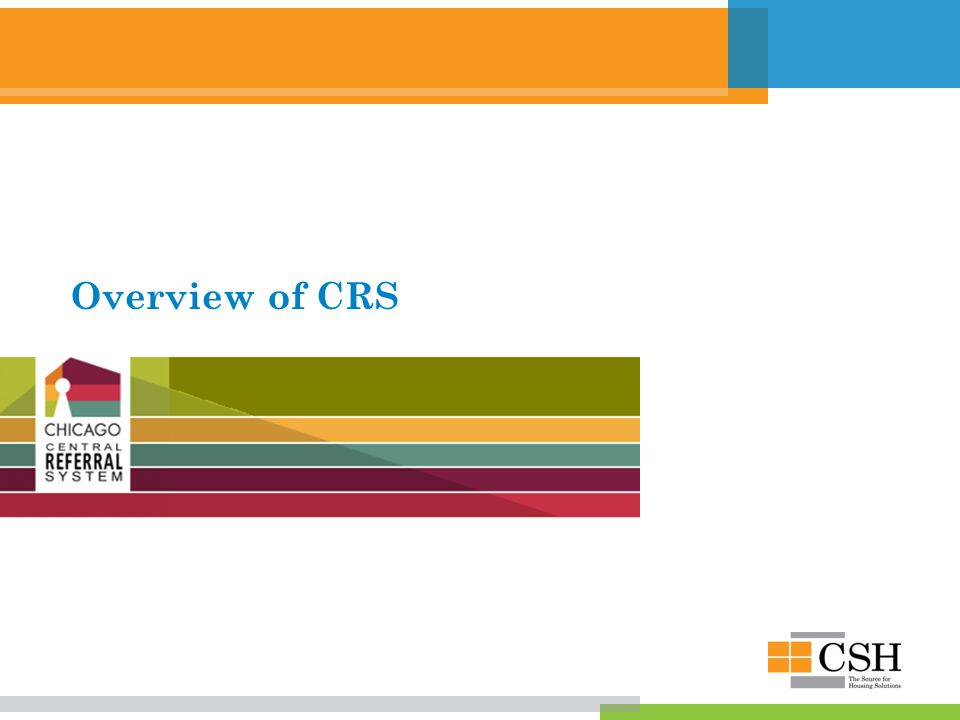 Overview of CRS