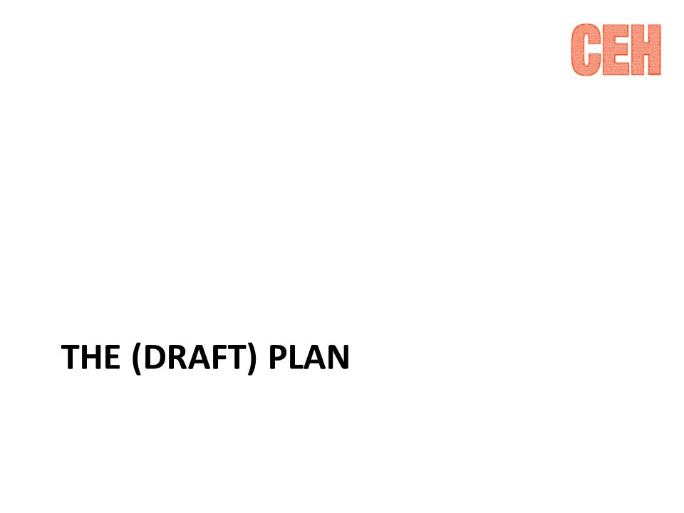 THE (DRAFT) PLAN