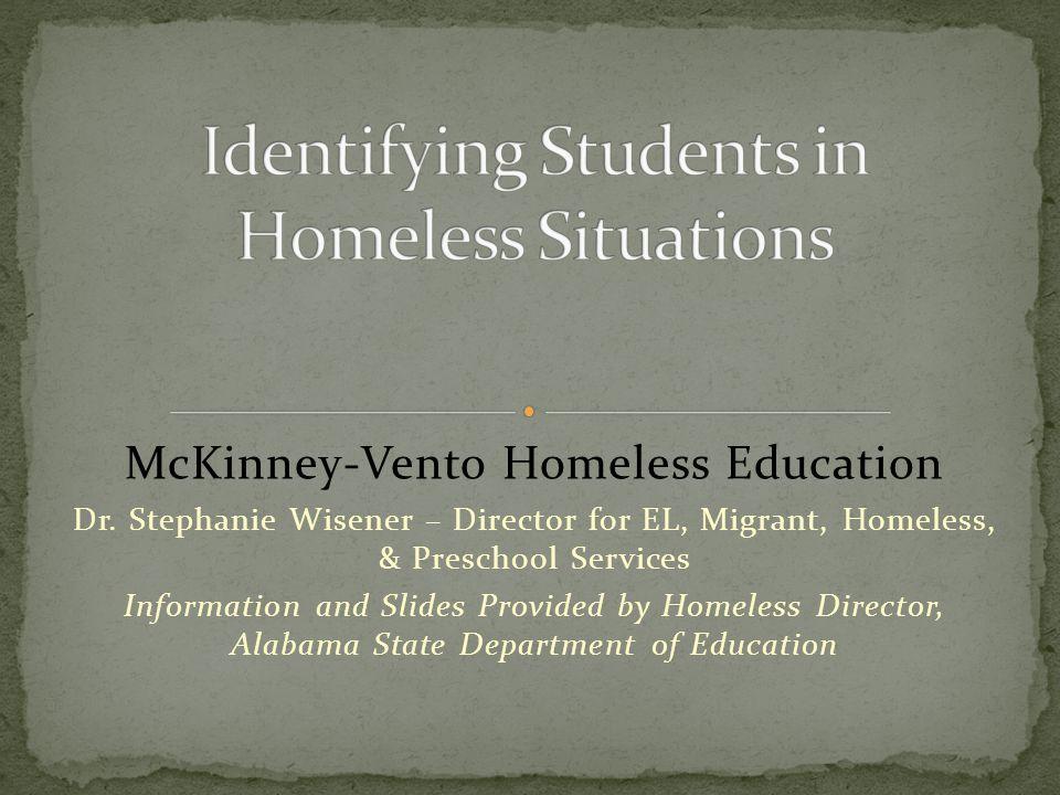 McKinney-Vento Homeless Education Dr.