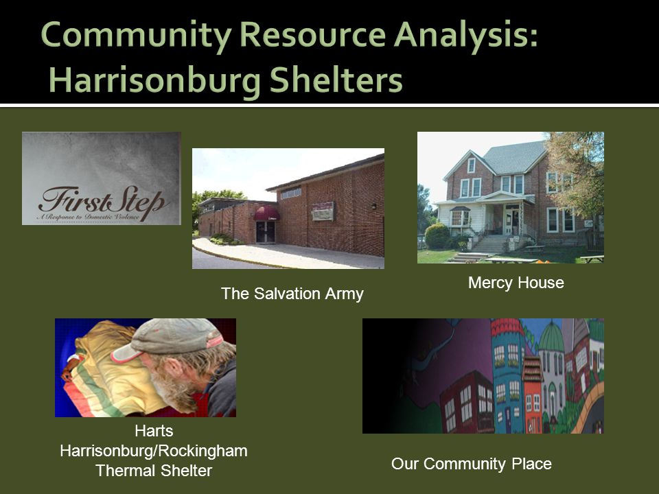 The Salvation Army Mercy House Harts Harrisonburg/Rockingham Thermal Shelter Our Community Place