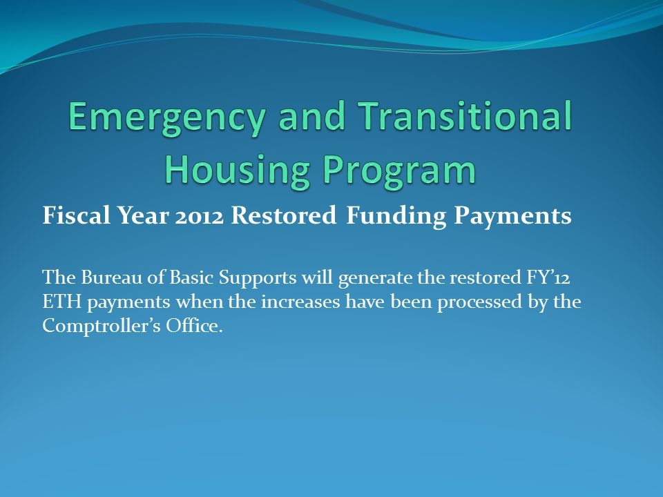 FY'2013 ETH Funding Application Funding Plan is due on February 3, 2012 to Jenny Boyd.