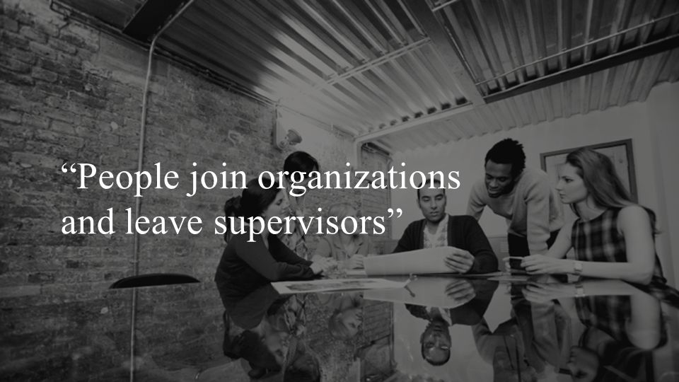 """People join organizations and leave supervisors"""