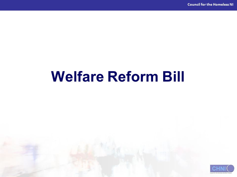 Council for the Homeless NI Welfare Reform Bill