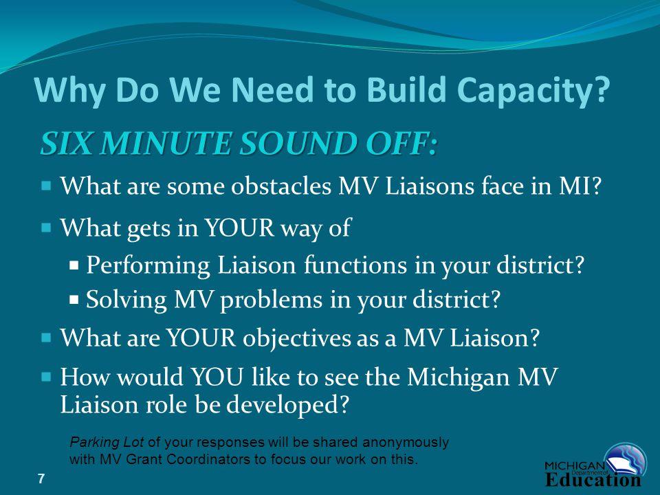 Why Do We Need to Build Capacity.