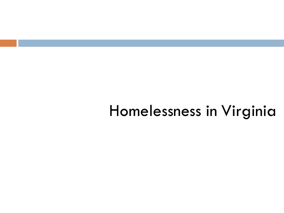 Homelessness in Virginia