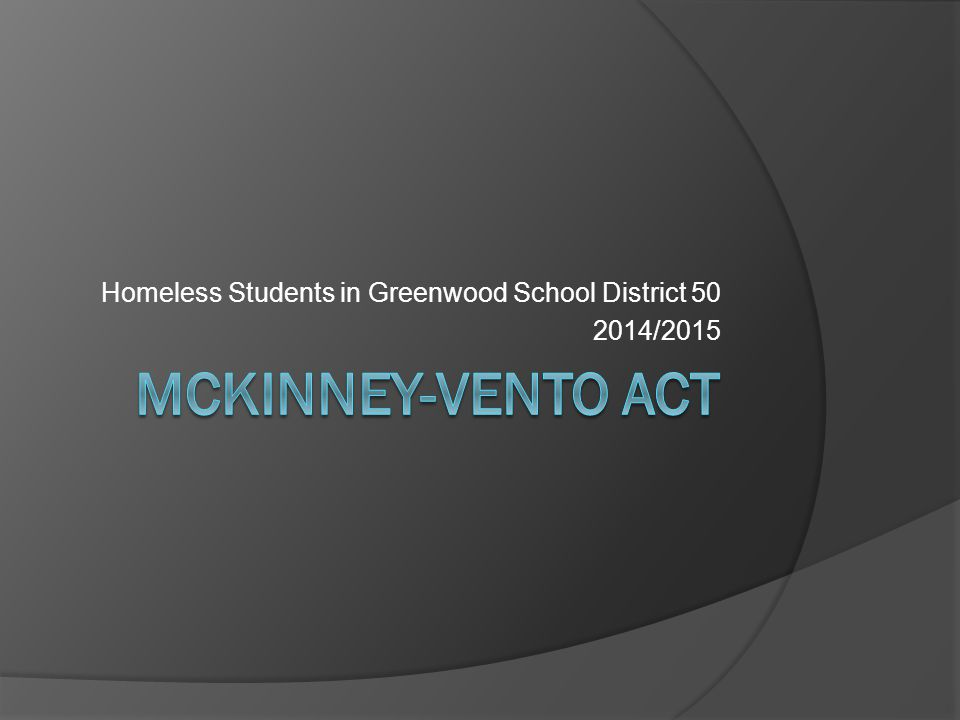 Homeless Students in Greenwood School District 50 2014/2015