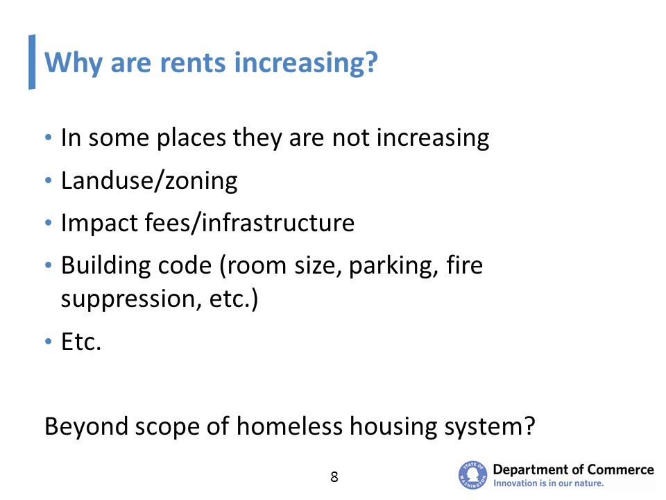 Why are rents increasing.