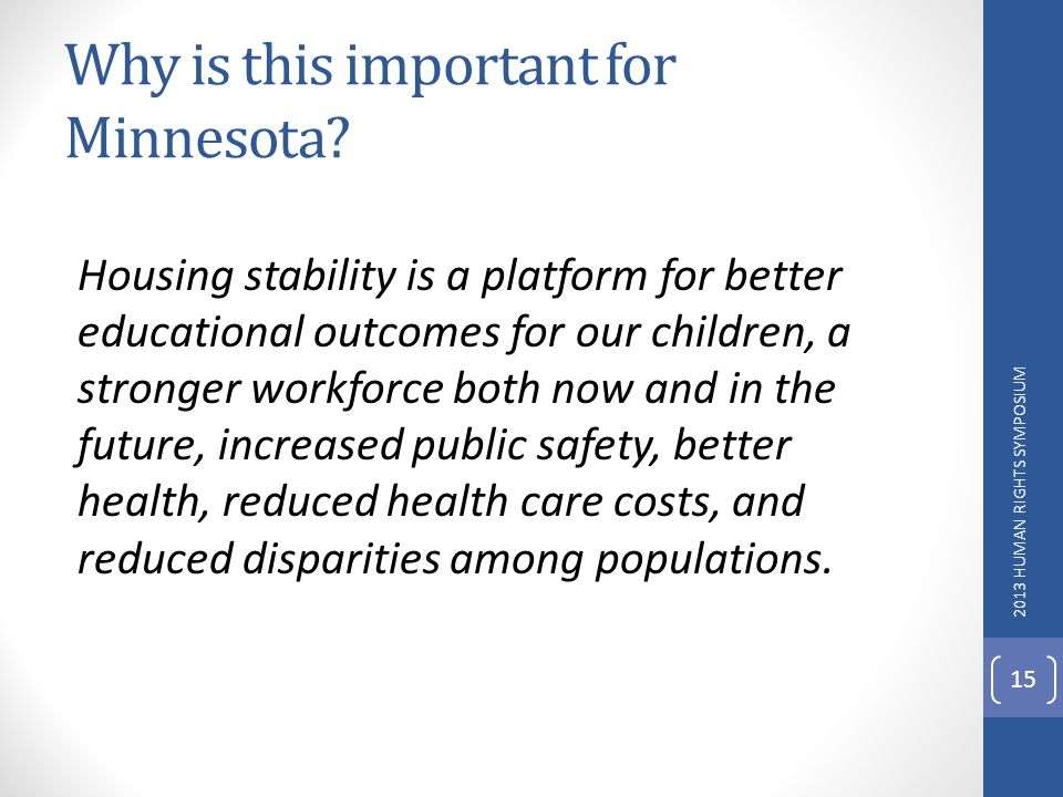 Why is this important for Minnesota.