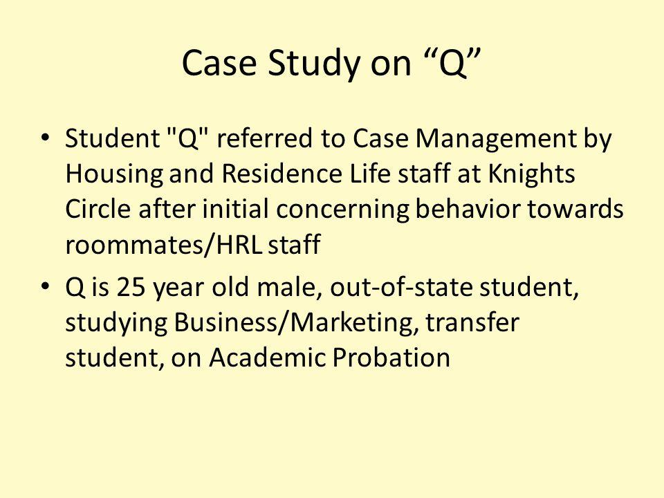 "Case Study on ""Q"" Student"