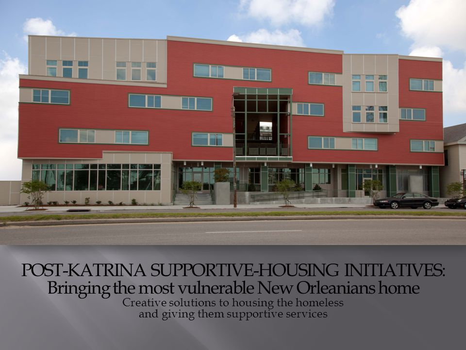 Lower-cost, long-lasting solutions to homelessness Supportive Housing costs less than half of shelter based approaches – and is an alternate to high-cost outcomes such as extended stays in hospitals, institutions and jail cells.