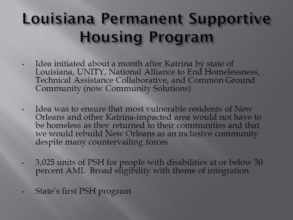 1,025 Shelter Plus Care vouchers for disabled homeless and 2000 Project-Based Section 8 vouchers -- special allocation attained from U.S.