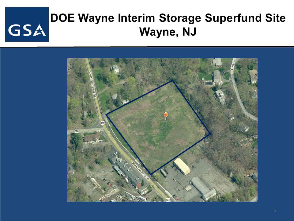 DOE Wayne Interim Storage Superfund Site Wayne, NJ 7