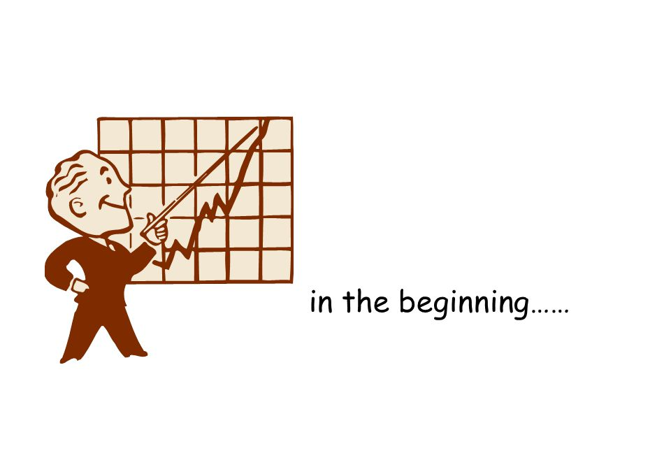 in the beginning……