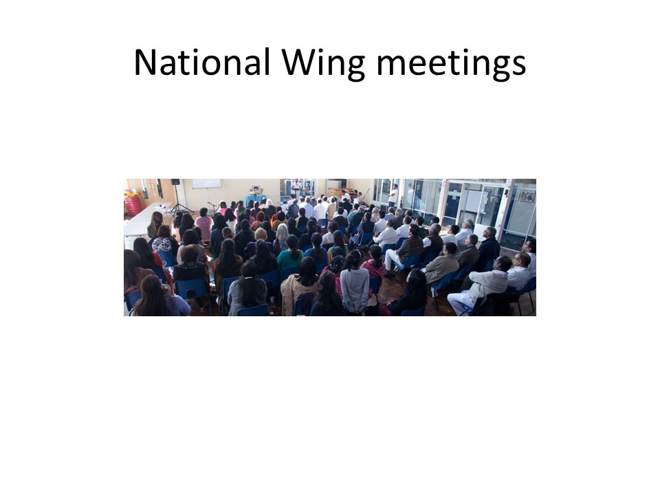 National Wing meetings