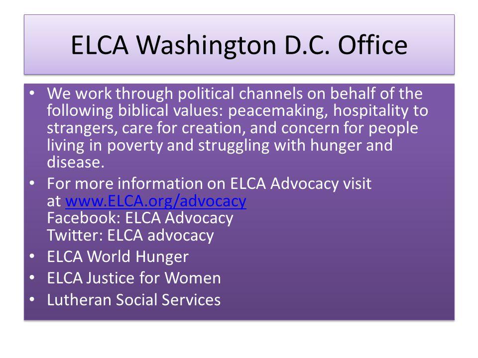 ELCA Washington D.C.