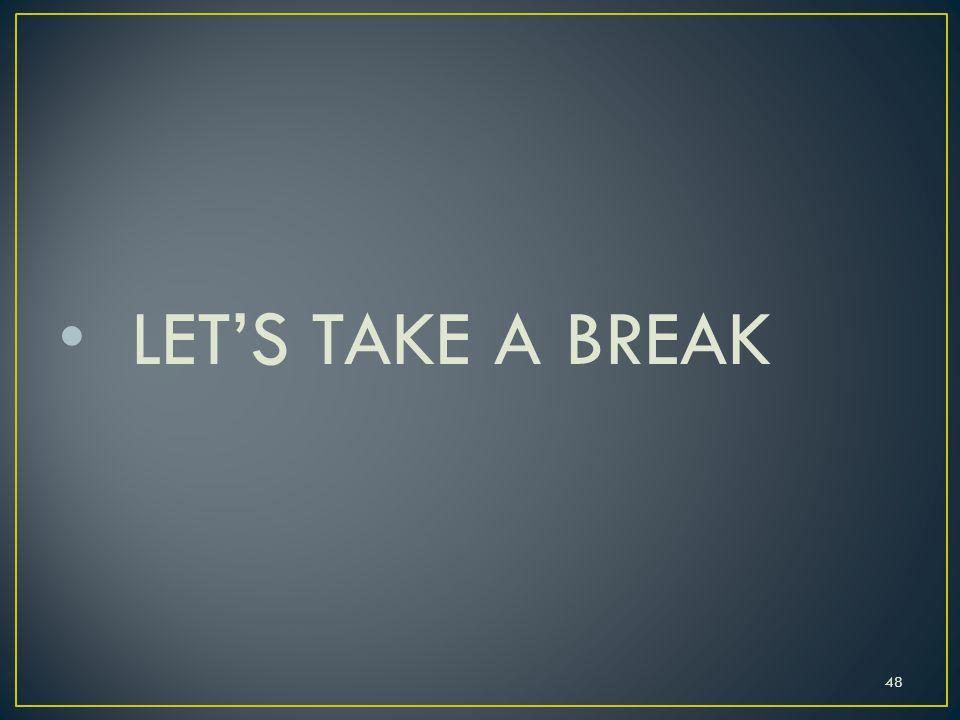 LET'S TAKE A BREAK 48