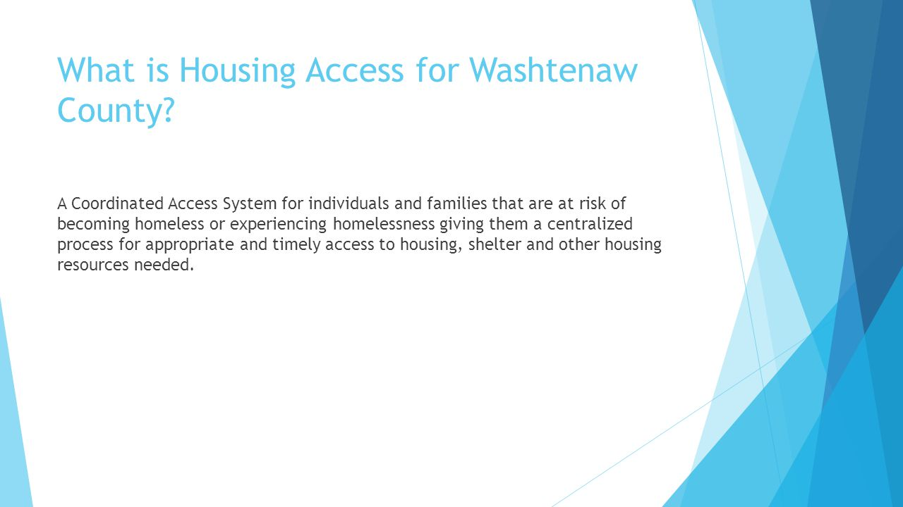 What is Housing Access for Washtenaw County.