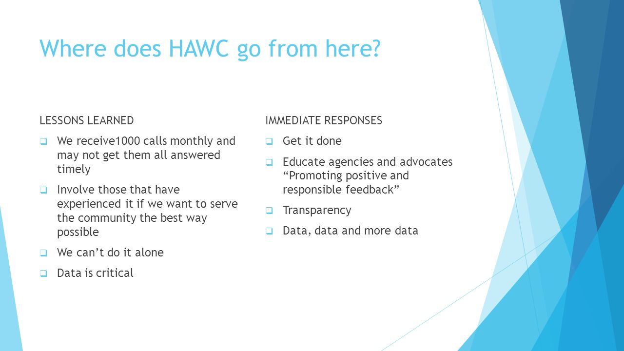 Where does HAWC go from here.