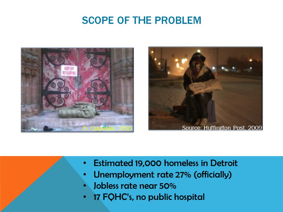 DETROIT'S HOMELESS ARE DISPERSED Source: City Farmer News, 2008