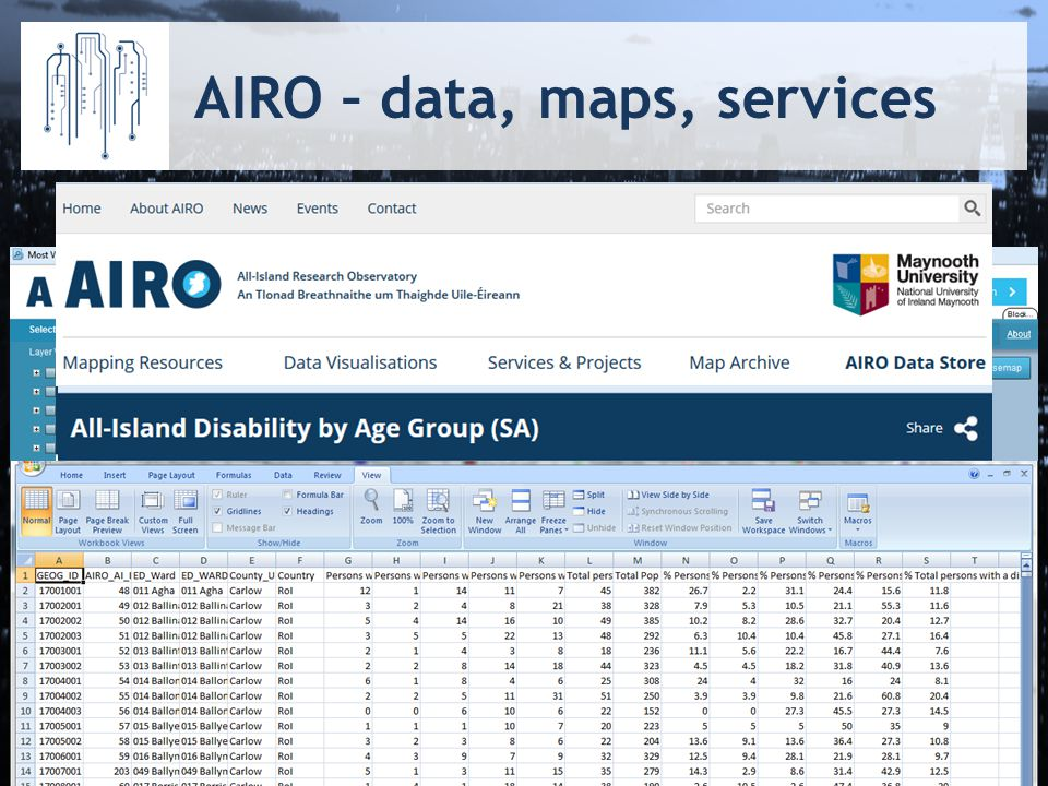 AIRO – data, maps, services