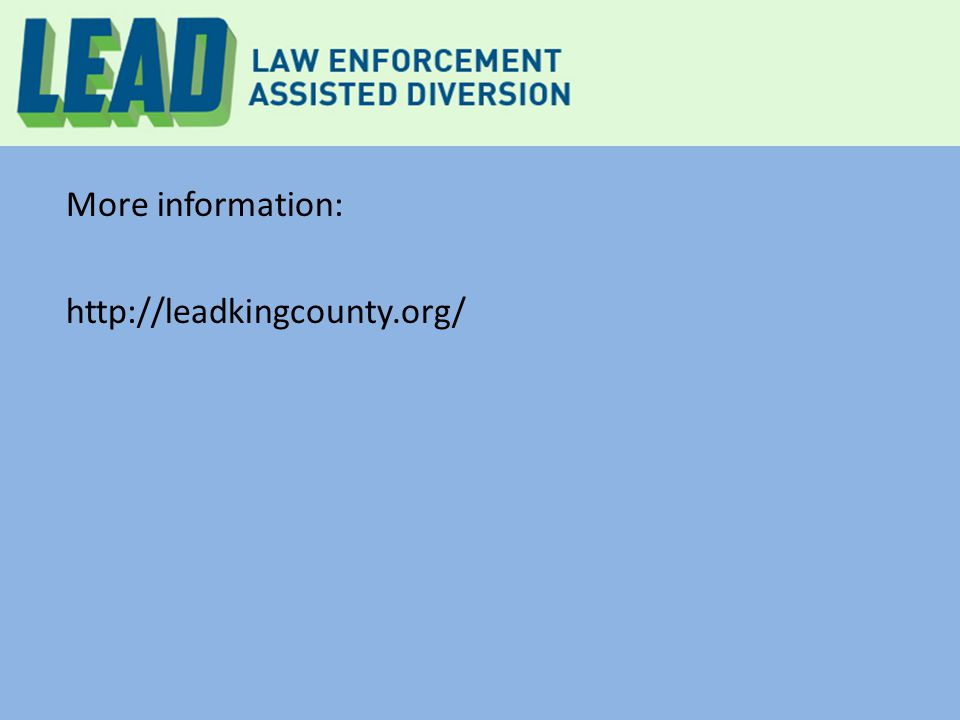 More information: http://leadkingcounty.org/