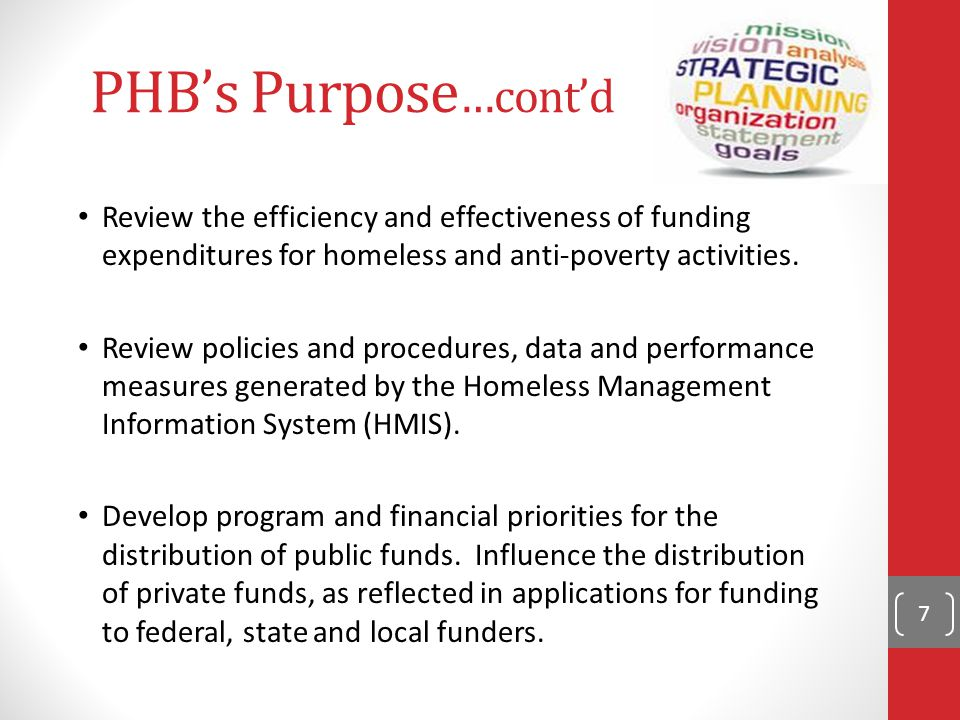 Governance Federal HEARTH Act of 2009 (Homeless Emergency Assistance and Rapid Transition to Housing) requires new homeless Continuum of Care Board Two boards combined: Continuum of Care Board with Community Action Advisory Board Poverty and Homeless Board acts as a single advisory group for Lane County's Continuum of Care Enhances coordination between county human services, housing, employment and training, health care and State of Oregon DHS 8