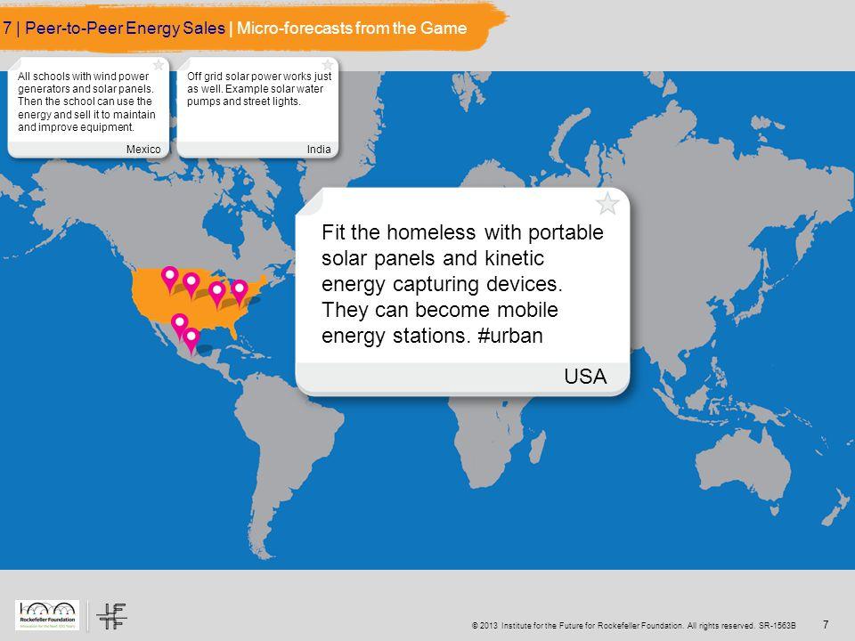© 2013 Institute for the Future for Rockefeller Foundation.