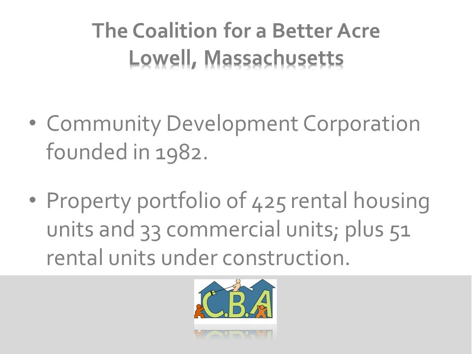 Community Development Corporation founded in 1982.