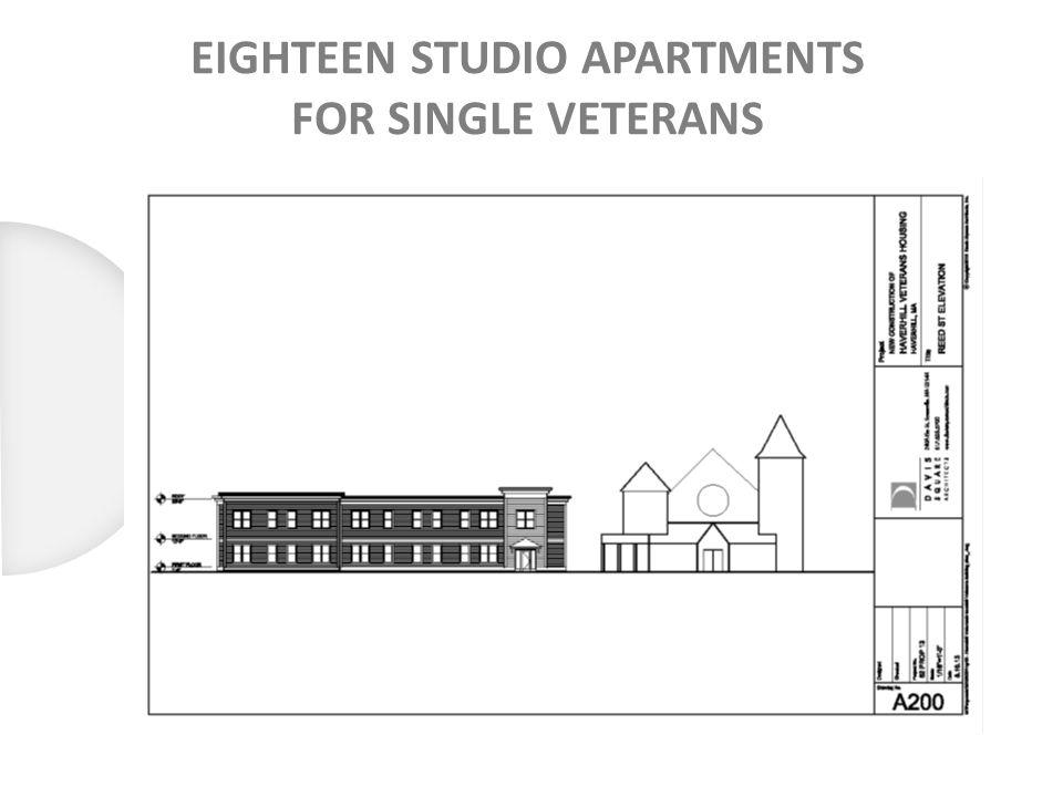 EIGHTEEN STUDIO APARTMENTS FOR SINGLE VETERANS