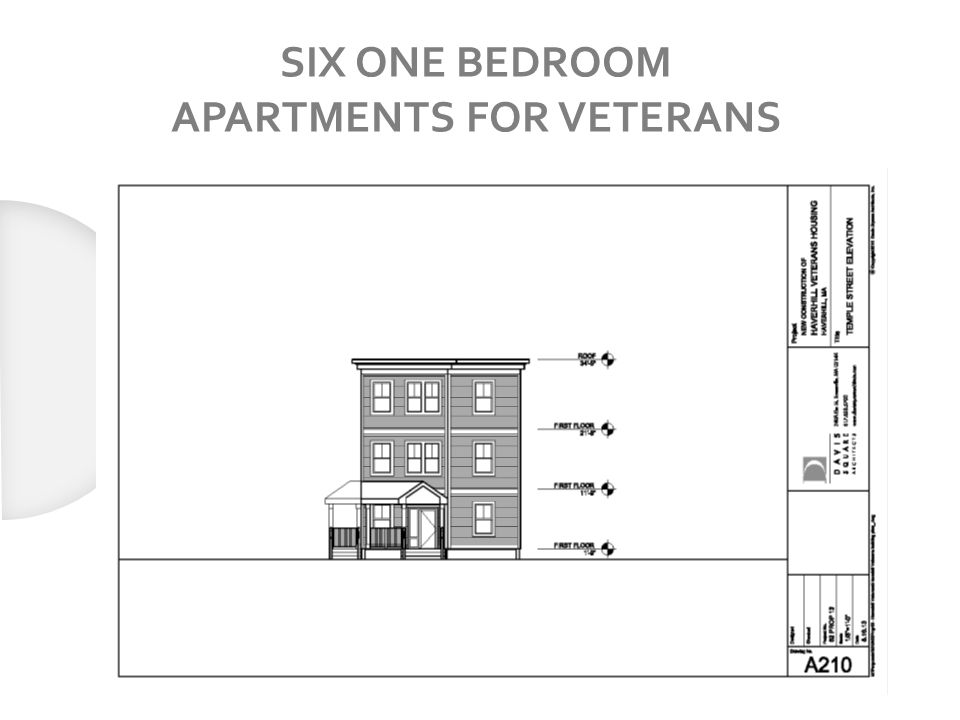 SIX ONE BEDROOM APARTMENTS FOR VETERANS