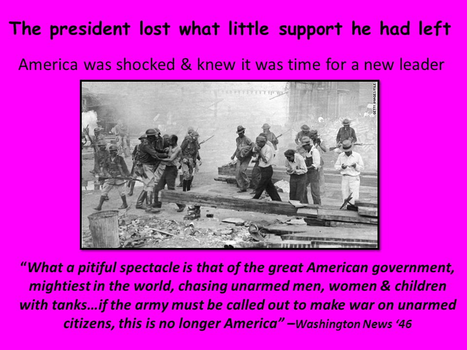 """The president lost what little support he had left America was shocked & knew it was time for a new leader """"What a pitiful spectacle is that of the gr"""