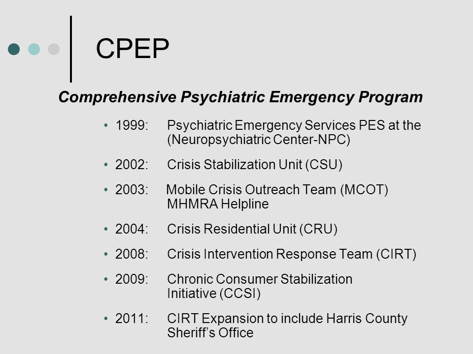 Effective Collaborations Between CPEP PROGRAMS and LAW ENFORCEMENT