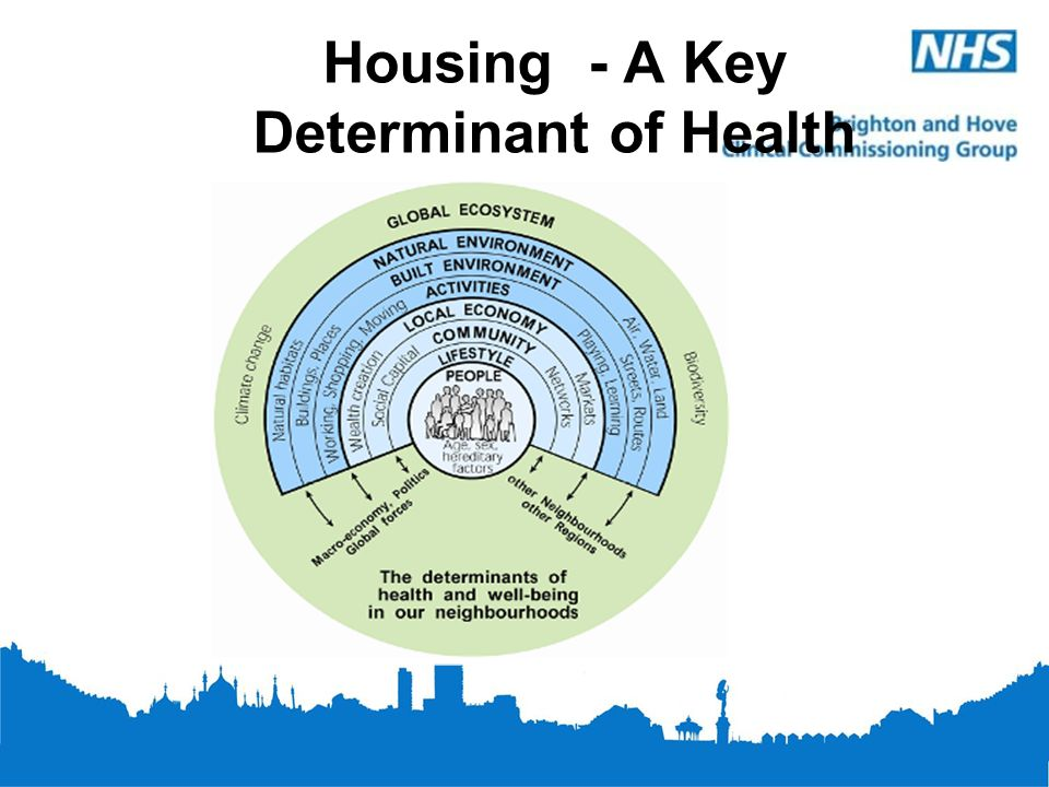 Links Between Housing and Health Quality of housing has a substantial impact on health needs Utilisation healthcare particularly for vulnerable groups The Building Research Establishment has calculated that poor housing costs the NHS at least £600 million per year *