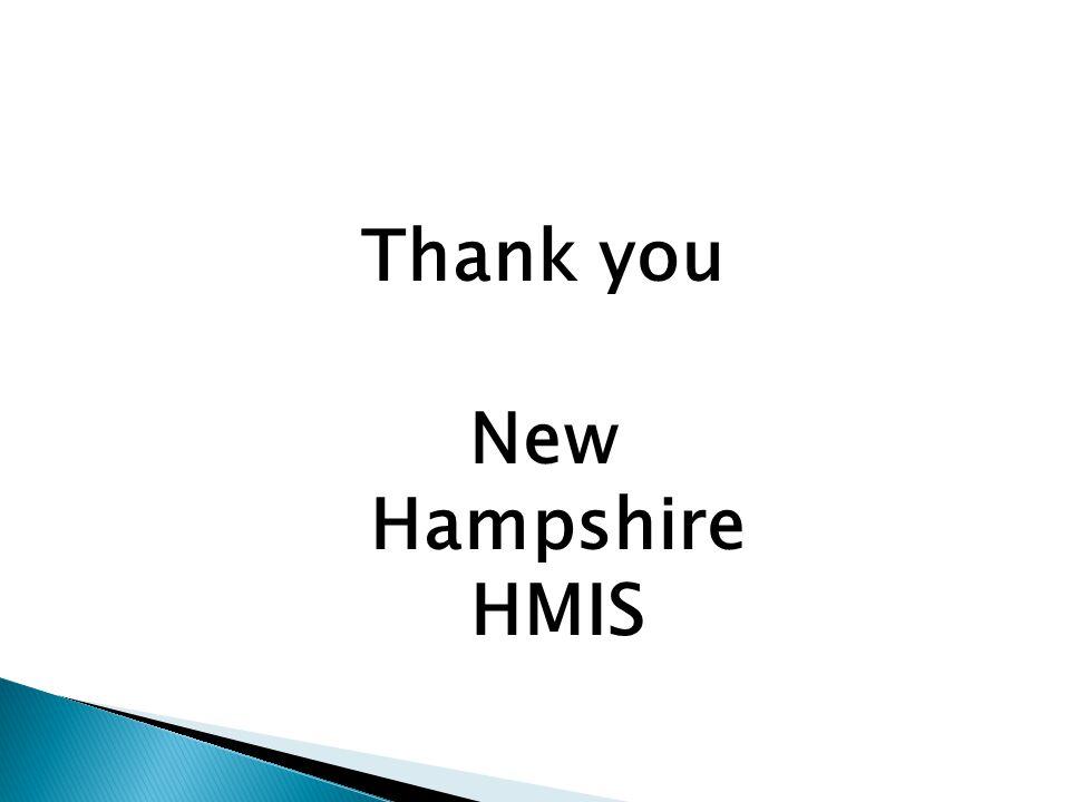 Thank you New Hampshire HMIS