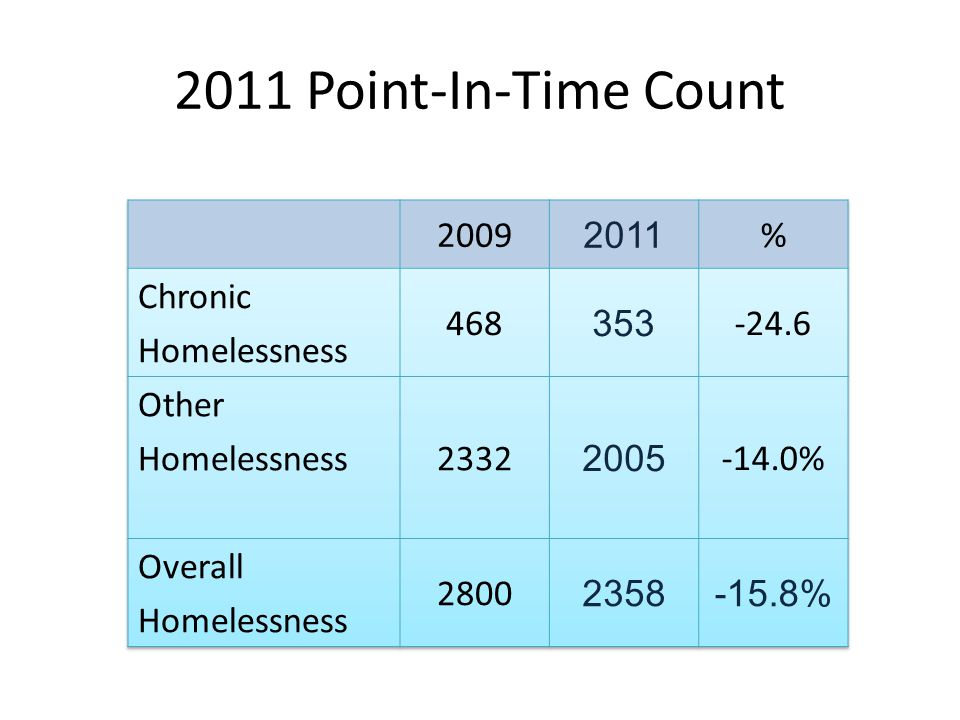 2011 Point-In-Time Count