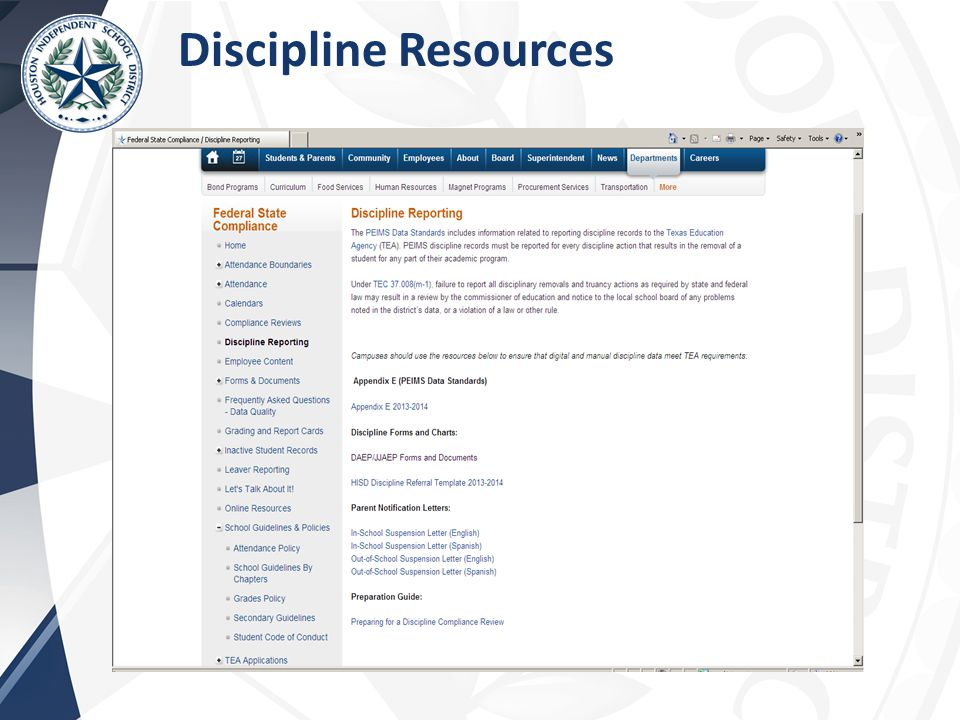 Discipline Resources