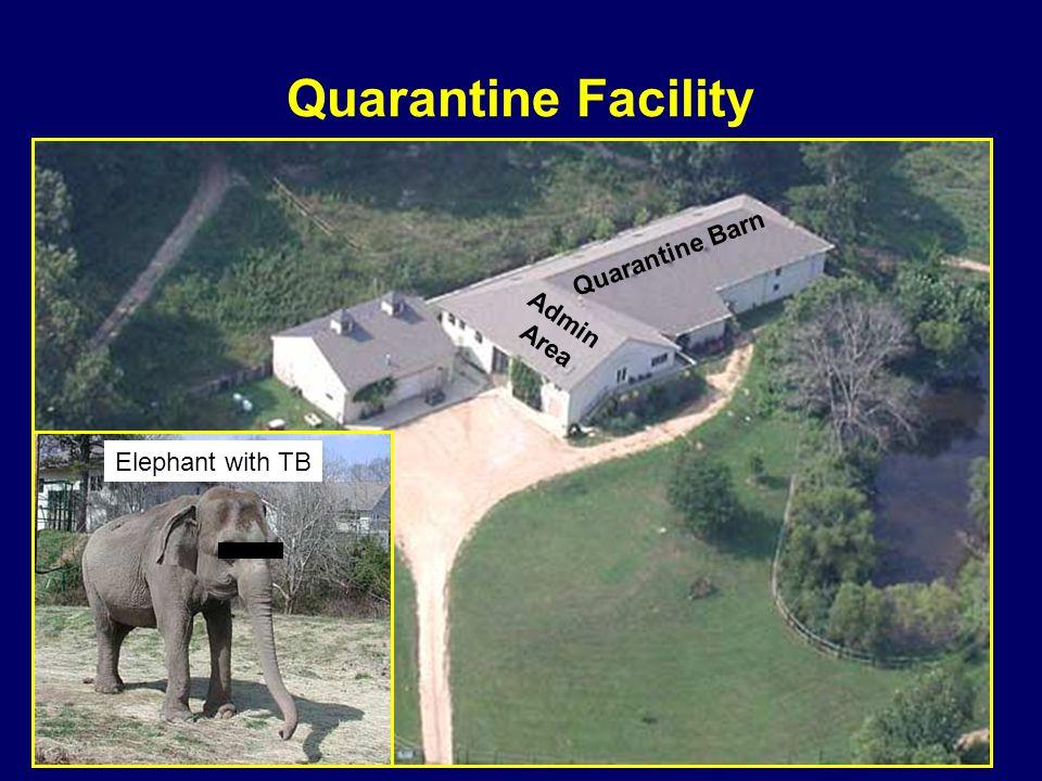 Quarantine Barn Admin Area Quarantine Facility Elephant with TB