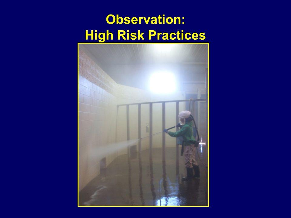Observation: High Risk Practices