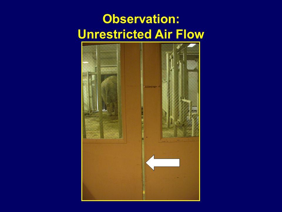 Observation: Unrestricted Air Flow