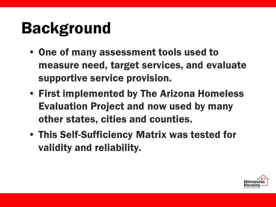 Minnesota Matrix Implementation Minnesota Pilot – select implementation from July 2010 through June 2011.
