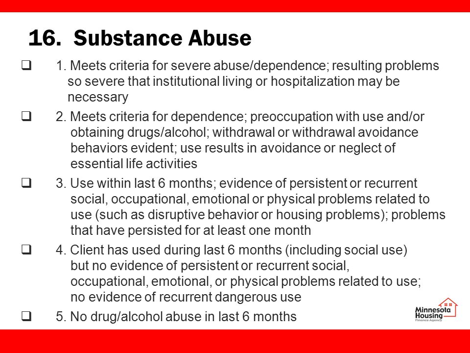 16. Substance Abuse  1.